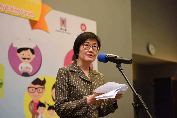1.    The Director of Health, Dr Constance CHAN gives the welcoming speech
