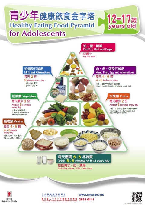Food pyramid for older adult
